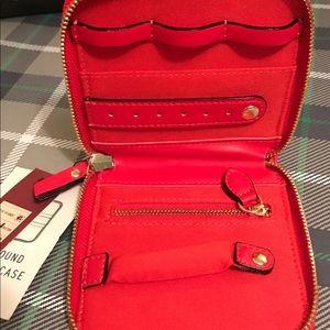 Handbags - Travel Zippered Jewelry Case Holder New Red